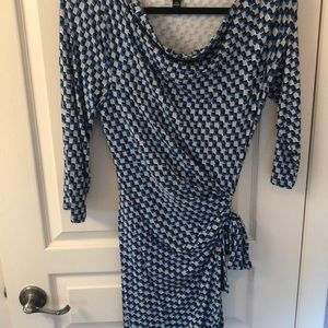 Ann Taylor geometric tie dress
